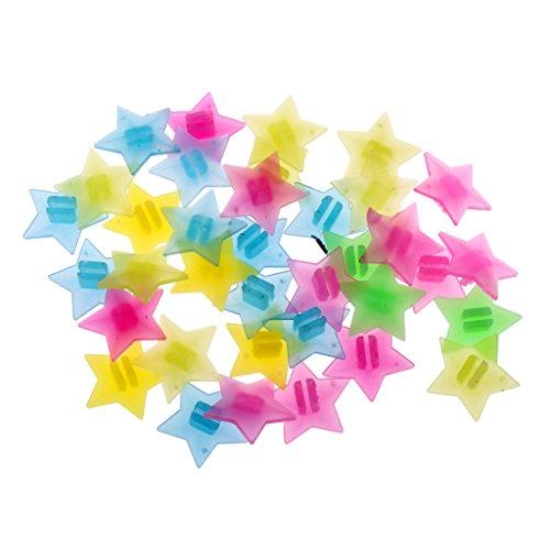 CUTICATE 36 pzas Cuentas de Adorno para Bicicleta/Estrellas de Plastico Ornamentales para Radio de Bici de Niños