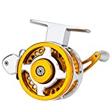 DONGTAISHANGCHENG Spinning Fishing Reel All-Metal Long-Throw Fishing Reel with Automatic Cable Arranging Gold Color 5000-6000 Deep Wire Cup Reel Fishing Reel (Size : 5000 Series)