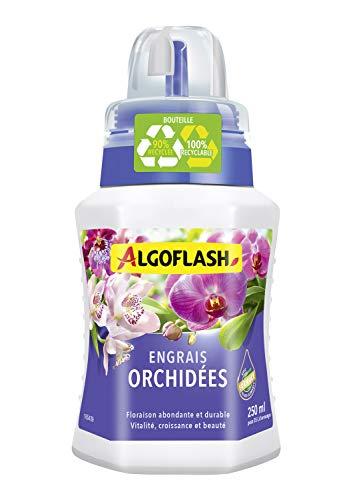 ALGOFLASH Engrais Orchidées, Bouchon Doseur Inclus, 250 ml, ALIORC250