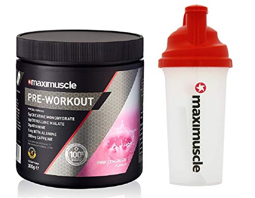MAXIMUSCLE Pre-Workout - 300g - Pink Lemonade with Shaker