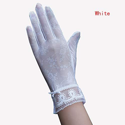 YTLJJ Sonnenschutzhandschuhe Damen,Touchscreen-Handschuhe,Anti-UV-EIS Seidenhandschuhe,rutschfeste Touchscreen-Spitzenhandschuhe,Sommer Fahren Handschuhe Fahren Elastische rutschfeste,D3