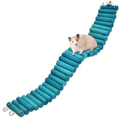 HEEPDD Hamster Climbing Ladder, Colourful Log Plank Road Suspension Bridge Platform for Birds Parrots Squirrel Sugar Gliders Mouse Gerbil 19.7x2.4in from HEEPDD