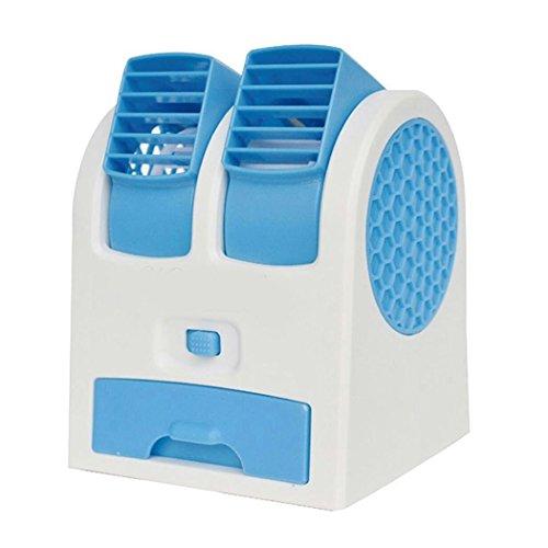 Lonlier Ventilatore vortice Mini con la Scatola di Perline Profumo, Alimentatore USB, Portatile e Regolabile Aria condizionata