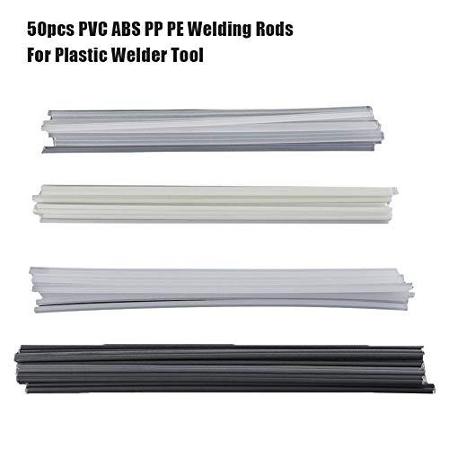 QueenHome Kunststoffschweißstäbe Stoßstangenreparatur ABS/PP/PVC/PE Schweißstäbe Schweißen Lötzubehör 50St