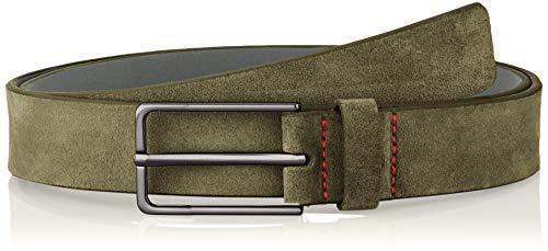 HUGO Herren Golia-Sd_Sz30 Gürtel, Grün (Dark Green 303), 678 (Herstellergröße: 110)
