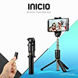 INICIO Bluetooth Selfie Stick [Aluminum Alloy Tripod,360 Rotation Head] Monopod Extendable with...