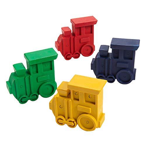 4-Color Railroad VBS Train-Shaped Crayons - 24 Pcs. - Basic Supplies - 24 Pieces