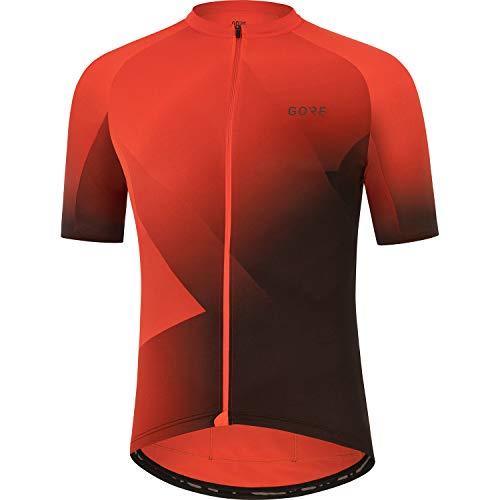 GORE WEAR Maglia a Maniche Corte da Ciclismo per Uomo Fade, M, Rosso/Nero (Rosso Vermiglio/Nero)