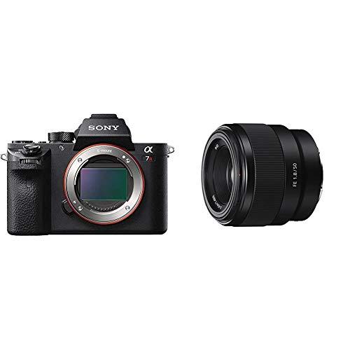 Sony Alpha 7 R II | Spiegellose Vollformat-Kamera (42,4 Mp, 0,02s AF, optische 5-Achsen-Bildstabilisierung im Gehäuse) & SEL-50F18F Standard Objektiv (Festbrennweite, 50mm, F1.8, Vollformat) schwarz