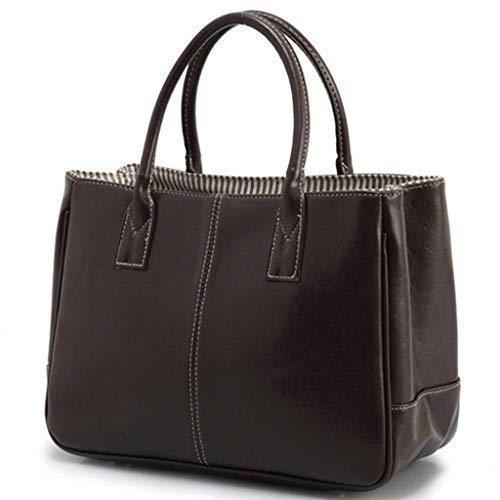 LILIHOT Frauen große einfache und vielseitige Mode Schultertasche Handtasche aus weichem Leder Damen Elegante Tasche Schulter Umhänge Henkeltasche Schule Fashion Style Trend