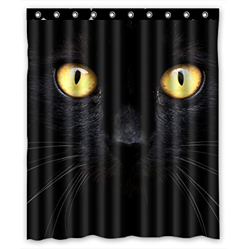 KXMDXA Black Cat in the Dark Waterproof Polyester Bath Shower Curtain Size 60x72 Inch