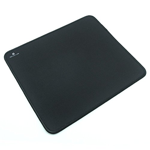 Reflex Lab Mouse Pad/Mat, (Black) Stitched Edges, Waterproof, Ultra Thick 3mm, Silky Smooth - 9'x8' Mousepad