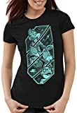 A.N.T. Lylat Fox T-Shirt da Donna McCloud n64 Wars, Dimensione:XL