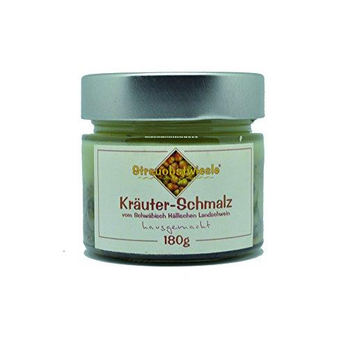 Streuobstwiesle Kräuter-Schmalz - 180 g Exquisites Kräuterschmalz vom Schwäbisch Hällischen Landschwein