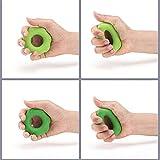 HFXLH Handgriff Exerciser (6-Pack) - Unterarm- und Finger-Ring-Stärkungs Set - Silikon-Quetscher Gripper für Muskelkräftigung Trainings-Werkzeug - Finger Physiotherapie PT Kit Trainer
