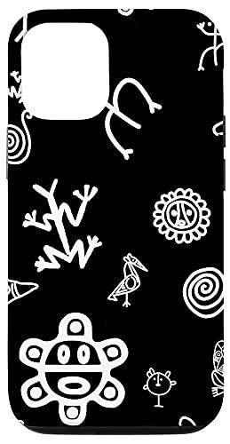 iPhone 12/12 Pro Simbolos Tainos Tallados Indios de Puerto Rico Boricua Pride Case