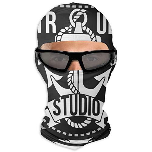 N/A Full Face Masker Zelfgemaakte Tattoo Ontwerp Oude School Stijl Hood Zonnebrandcrème Masker Dubbele Laag Koud Voor Mannen En Vrouwen