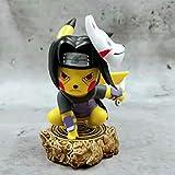 xkk Naruto Anime Figura De Acción Uchiha Itachi Cos Pikachu 10cm Estatua Satique Souvenir Collectibl...