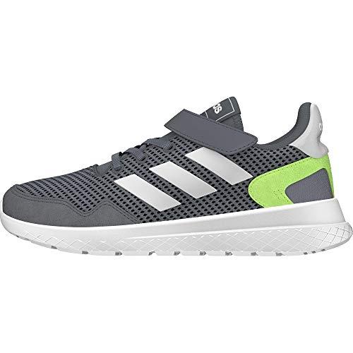 adidas Archivo C, Zapatillas de Running, Grey/FTWR White/Signal Green, 33 EU