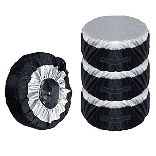 Tire Protectors banddekking, Wiel Tas Band Band Spare Cover, Duurzaam Oxford Doek stofdicht Opbergzakken Fit for 13-16Inch Tyrus, 4Psc