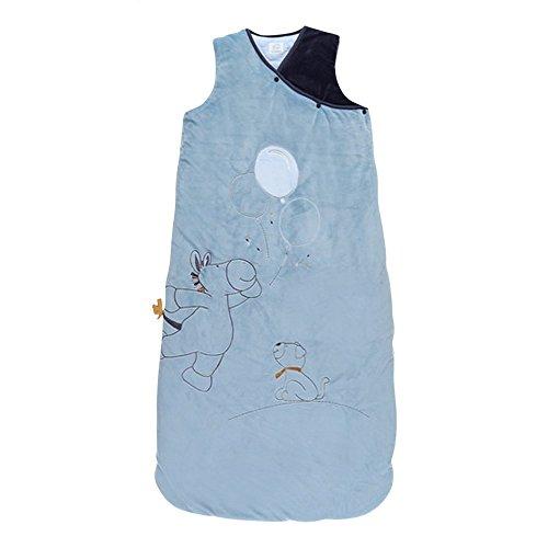 Noukies BB1740.06 Achille und Zebrito Baby-Schlafsack, 90-110 cm, blau