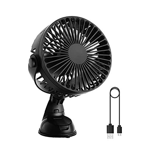 Ventilador De Mesa Usb-360 Grados Recargable Clip Mesa De Escritorio Ventilador para Camping Casa Tienda Bebé Coche Portátil Móvil Ventilador Refrigerador De Aire con Batería-Negro