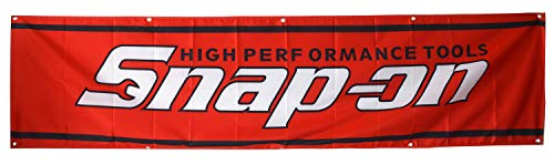 Daoops Snap On Flag Tools 2X8FT Red Banner
