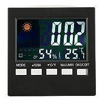 【𝐇𝐚𝐩𝐩𝒚 𝐍𝐞𝒘 𝐘𝐞𝐚𝐫 𝐆𝐢𝐟𝐭】電子時計、温度変化を感知目覚まし時計3.7 x 3.7 in ABSアラーム/スヌーズ温度計時計、リビングルーム用