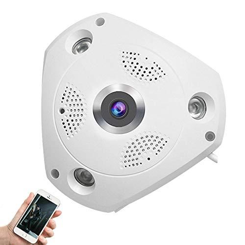 GT-LYD Camara vigilancia Bebe,360 Grados de Vista panorámica de Monitor Remoto WiFi cámaras de Red Inteligente, la visión Nocturna,32g