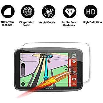 9H Tempered GLASS Guard Shield Scratch-resistant Ultra HD Extreme Clarity LiFan LFOTPP 2PCS GLASS TomTom GO 520 5200 5 Inch GPS Screen Protector
