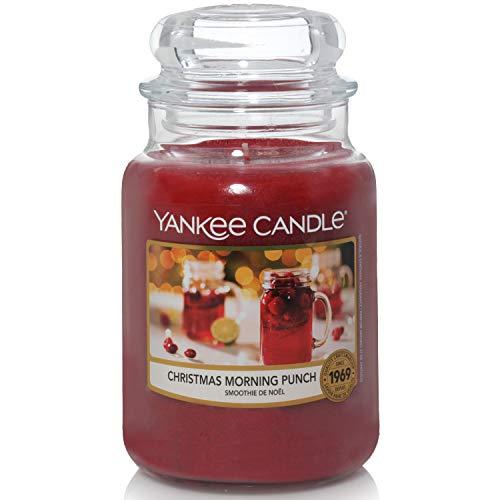 Yankee Candle candela profumata in giara grande | Punch della Mattina di Natale | durata: fino a 150 ore