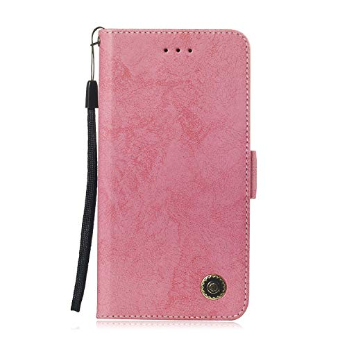 Sony Xperia XZ2 Compact Hülle, DENDICO Premium Brieftasche Leder Wallet Tasche für Sony Xperia XZ2 Compact, Handy Schutzhülle Tasche Flip Etui - Rosa