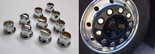 24/7Auto 30 tapas de tuerca de 30 mm de plástico cromado para ruedas de camión o remolque.
