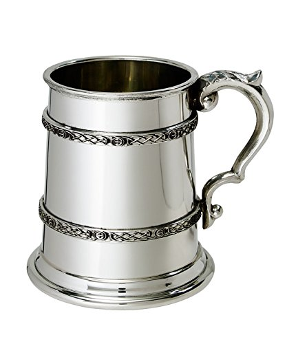 Wentworth Pewter - Half Pint Celtic Band Pewter Tankard