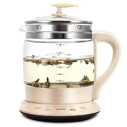 LZZB 1.8L Glass Electric Kettle,Eco Water Kettle tatic with Adjustable Temperature, Free Cordless Water Boiler with Strainer Fast Boil Auto-Off & Boil-Dry Protection,1000W