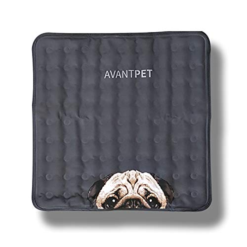 Avantpet] Reversible Comfortable Pet Cooling Pads for Cats and Dogs, Cooling Gel pad, Pressure Activated Self Cooling Dog Sleeping Bed, Keep a Pet Cool on Hot Weather, XS, Pug
