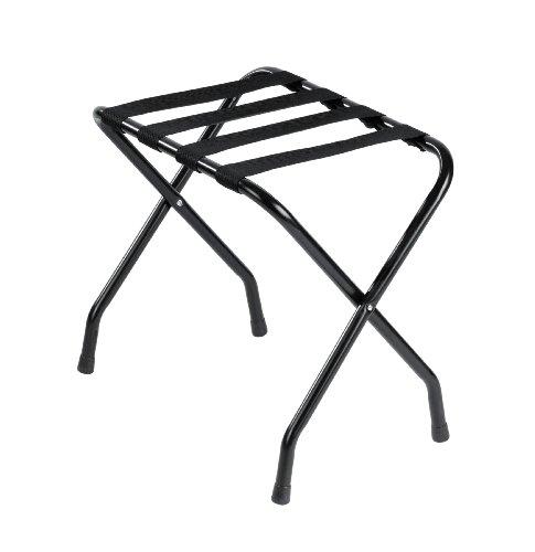 Wholesale Hotel Products Folding Metal Luggage Rack, Black Finish
