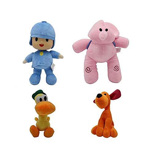 XFei Pocoyo und Seine Freunde Mini Plüschfiguren Spielzeug Kuscheltiere Weiche Figur Anime Collection Spielzeug 6er-Set - Pocoyo, Pato, Loula, Elly, Sleepy Bird & Girl