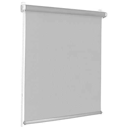 Rolmaxxx ROLLMAXXX Modern Rollo Lichtdurchlässigrollo Klemmfix ohne Bohren (100 x 215 cm, Hellgrau)