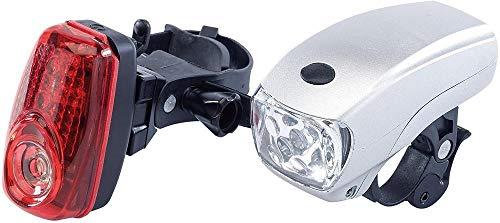 TF Juego de Luces LED Delanteras y traseras para Bicicleta Combinaciones de Luces traseras de Faros