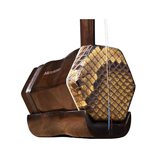 Erhu, Alt Mahagoni Erhu, handgemachte Haut Professionelle Sammlung von Musikinstrumenten, alten Ming und Qing-Dynastie Alten Mahagoni Erhu, Nationalmusikinstrumenten, Fein (Größe: 83cm) HUERDAIIT
