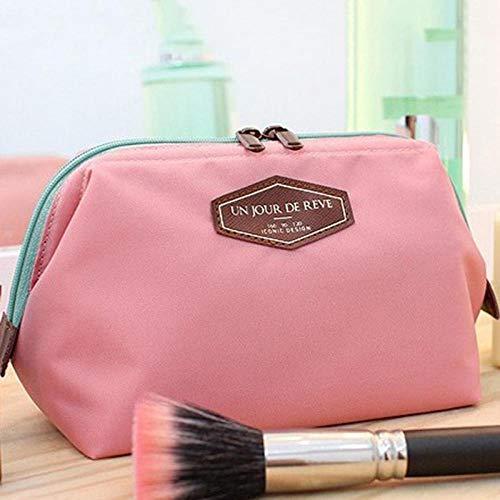 Bolso de Cosméticos Bolsas de Aseo 12 X 16Cm Algodón Multifunción Maquillaje Organizador Bolsa Mujer Cosmética Bolsas Necesaria Caja Bolsa de Viaje Bolso Kits de Lavado Rosa