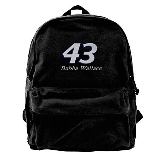 Yuanmeiju Mochila de lona Bubba Wallace Canvas Backpack Lightweight Travel Daypack Student Rucksack Laptop Backpack