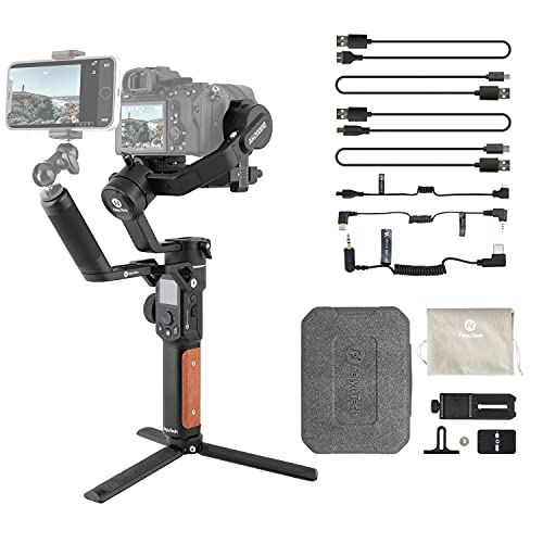FeiyuTech AK2000S [Official] Camera Stabilizer,Handheld 3 Axis DSLR Mirrorless Camera Gimbal, 4.85lbs Payload,Pull Focus,Zoom for Canon Sony Panasonic Fujifilm Nikon