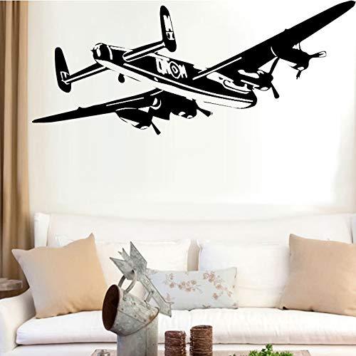 sanzangtang Kinderkamer decoratie met vliegtuigen muur stickers verwijderbare woonkamer zelfklevend behang familie slaapkamer decoratie accessoires