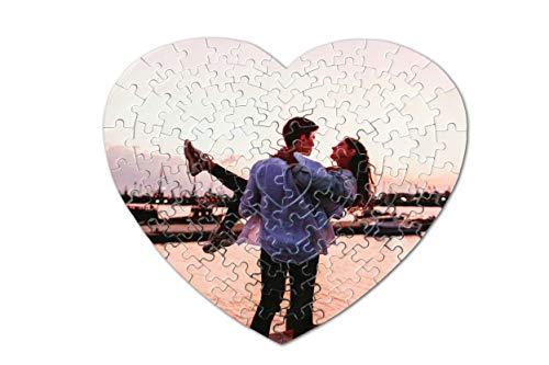 Puzzle Personalizado con tu Foto Favorita. 111 Piezas (33 x 28 cm)   Forma corazón. Máxima Calidad de impresión. 10 TAMAÑOS Disponibles (Desde 48 a 3000 Piezas)