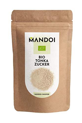 Mandoi BIO Tonka Zucker 200g. Feinster Tonkazucker bestehend aus Rohrzucker und Tonkabohnen. Idealer Ersatz für Vanillezucker.