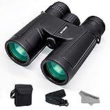 GVKAR Binoculars for Adults Bird Watching 12 x 42 Powerful Low Night Vision Zoom Binoculars for Stargazing Travel Hunting Hiking High Power Bak4 Prism FMC Lens Folding Waterproof Fogproof Binocular