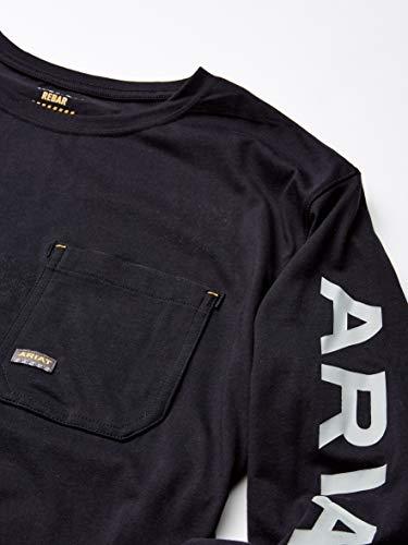 ARIAT Men's Rebar Logo Long Sleeve Crewwork Utility Tee Shirt