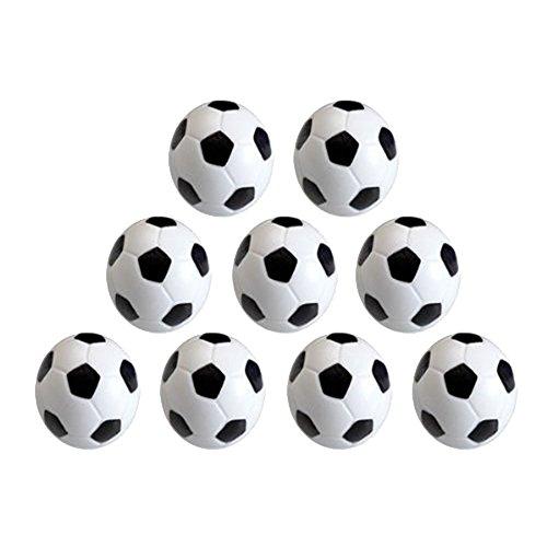 Vientiane 9 Stück Mini 32mm Tischfussball Kickerbälle, Kunststoff Umweltschutz Ersatzteil für Kinderspielzeug Spiel (Schwarz Weiß)